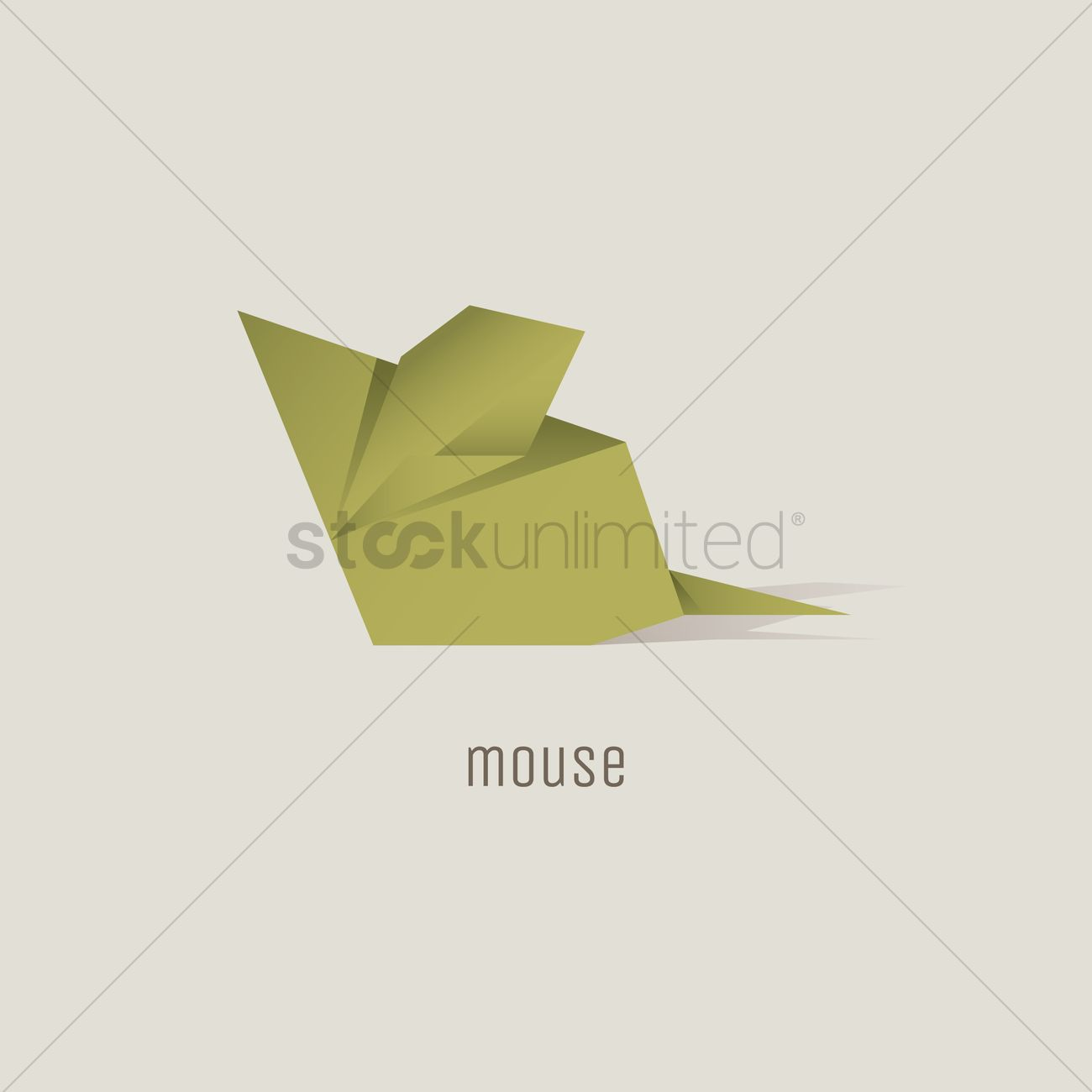 Origami Mouse Vector Image 1817848 Stockunlimited