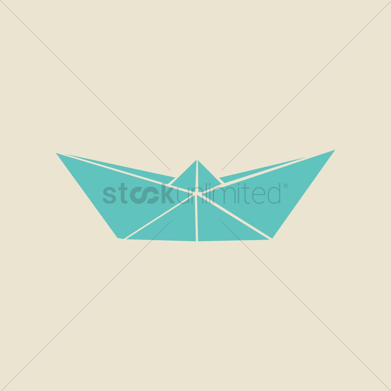 Origami Paper Boat Vector Graphic