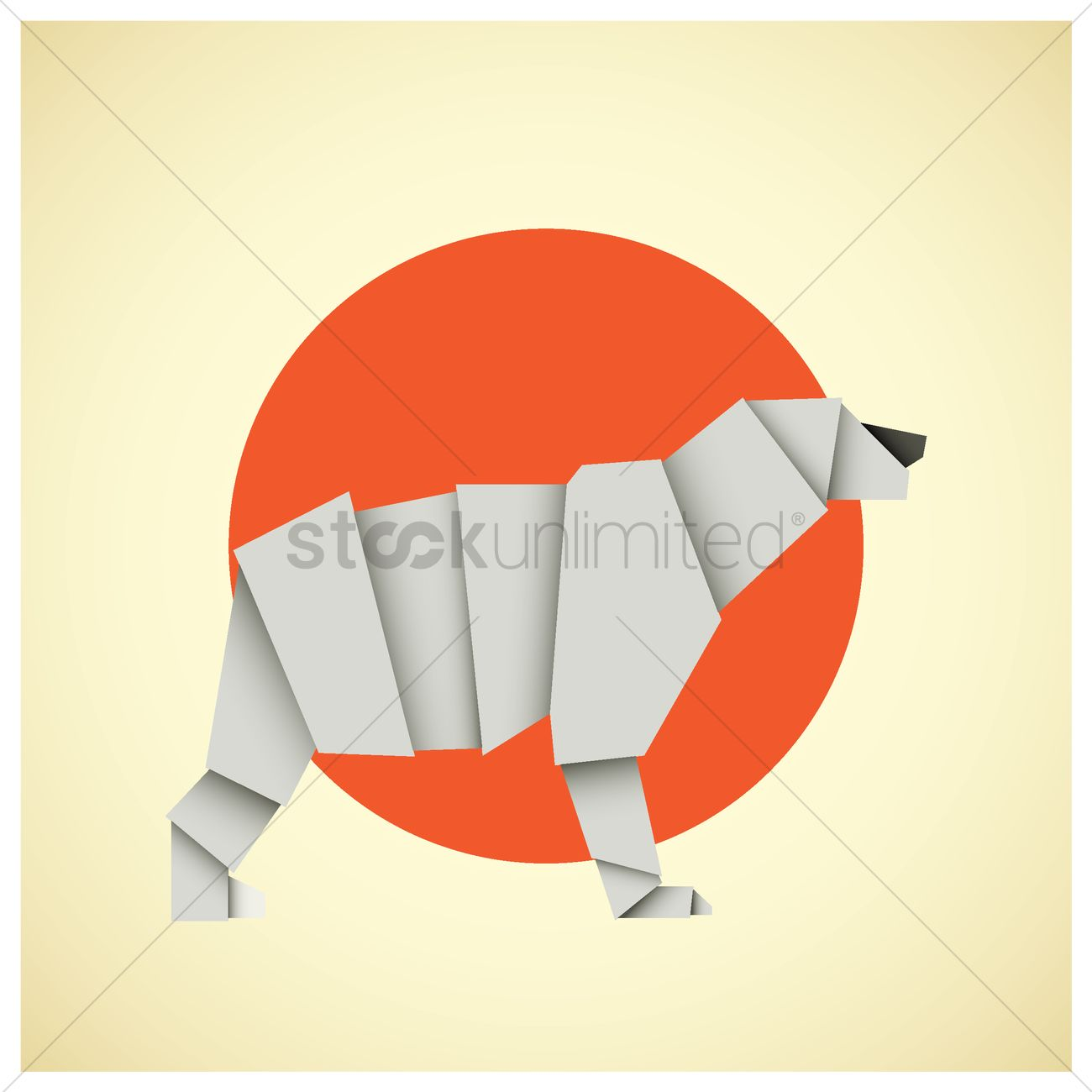 Origami polar bear by Quentin Trollip - YouTube | 1300x1300