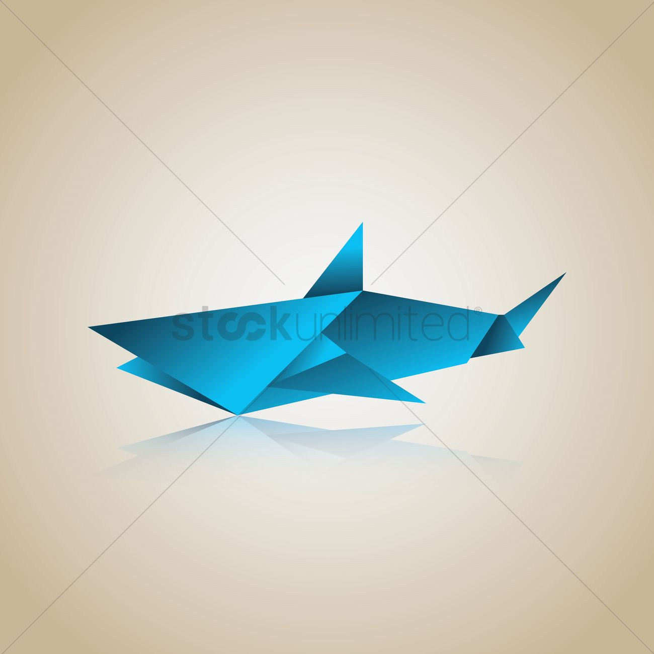 Free Origami Shark Vector Image 1482068 Stockunlimited