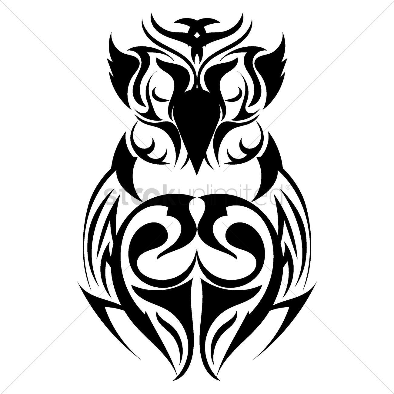 Owl tattoo design Vector Image - 1433392   StockUnlimited