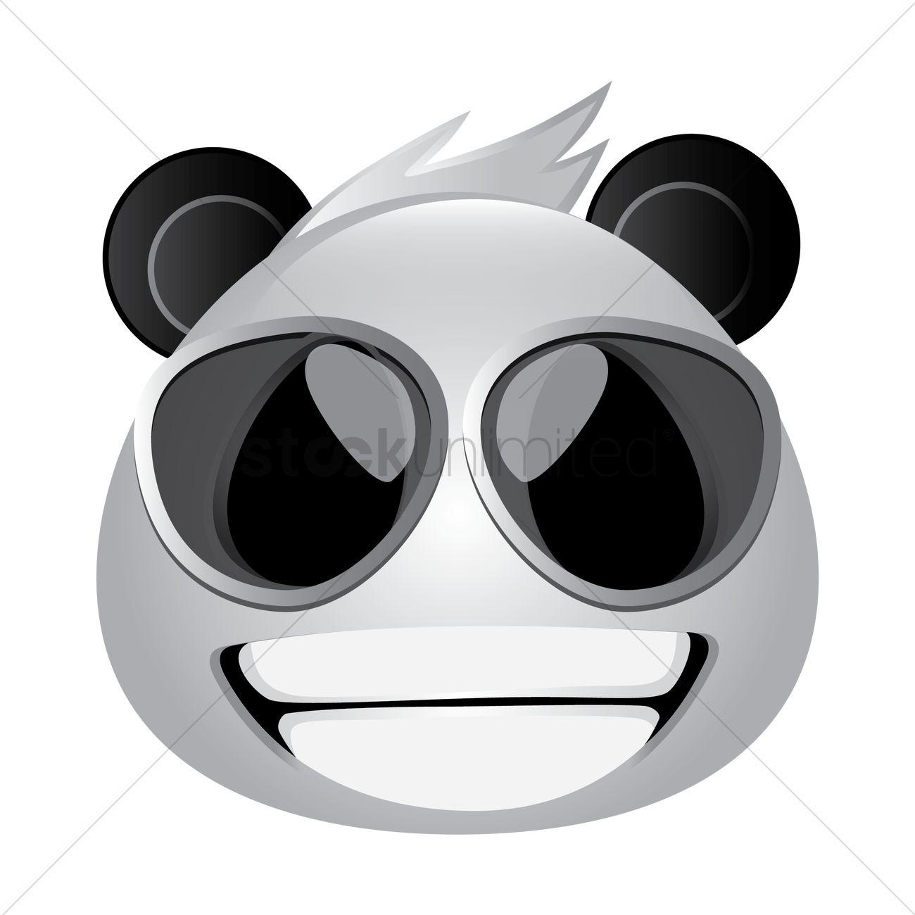 Panda Bear Looking Cool Vector Graphic