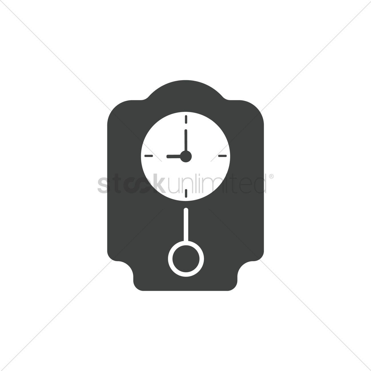 Pendulum clock icon Vector Image - 1998588 | StockUnlimited