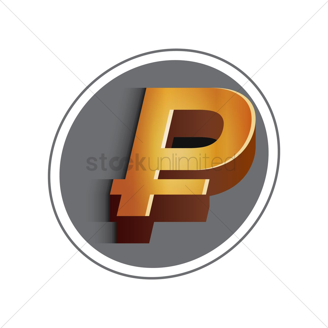 Philippine Peso Currency Symbol Vector Image 1611900 Stockunlimited