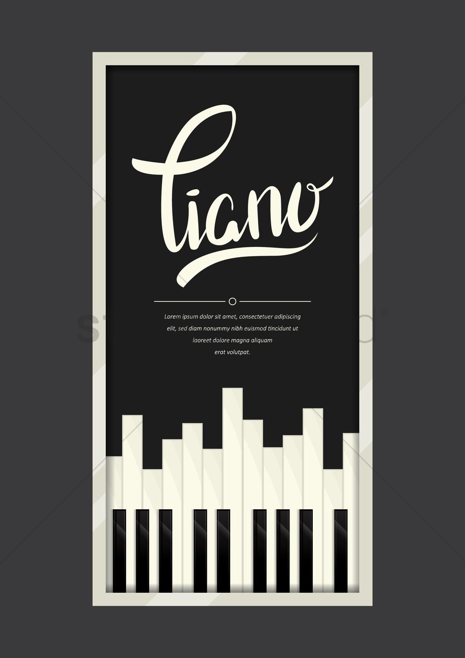 Piano Poster Vector Graphic