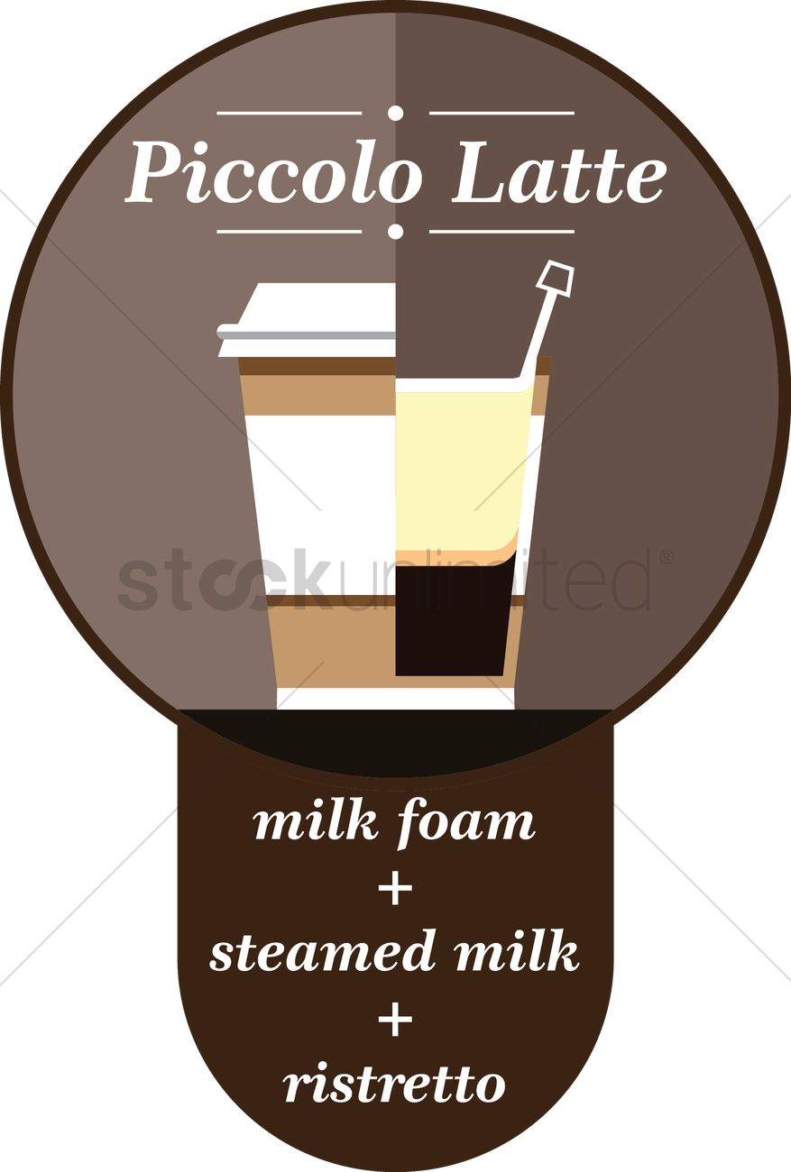 Piccolo latte coffee in a paper cup Vector Image - 1522008 ...