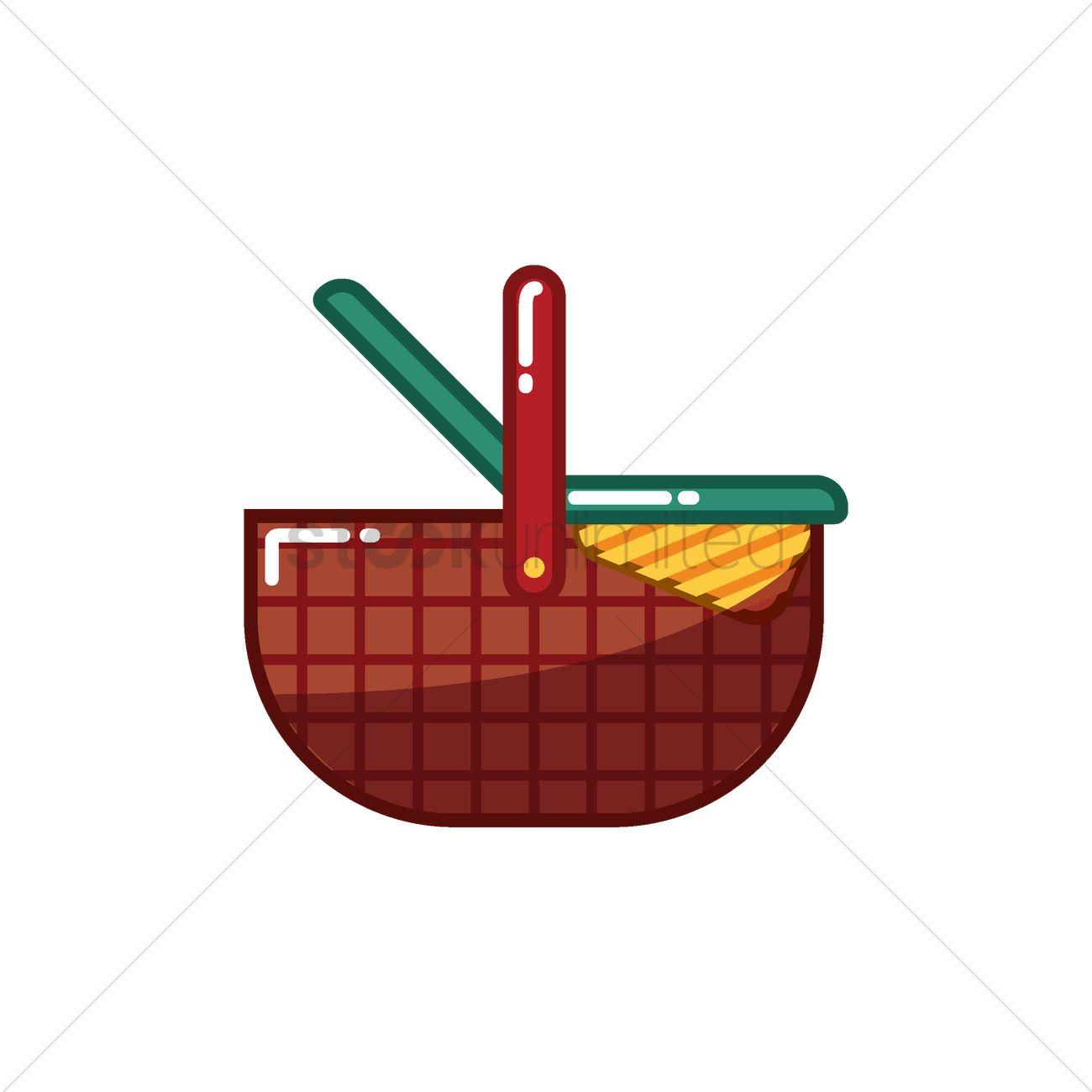 Picnic Basket Graphic : Picnic basket vector image stockunlimited