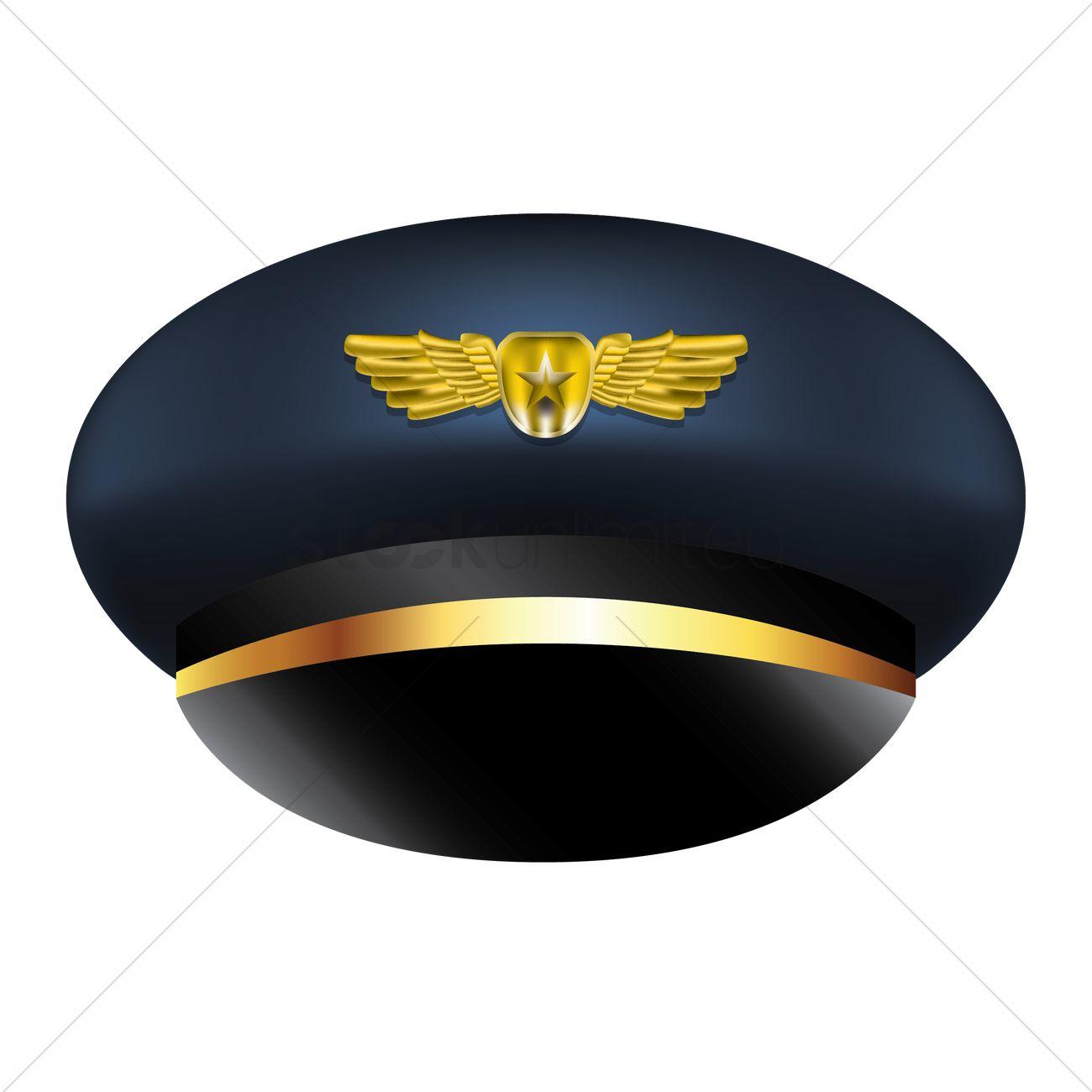 Pilot Cap Vector Image