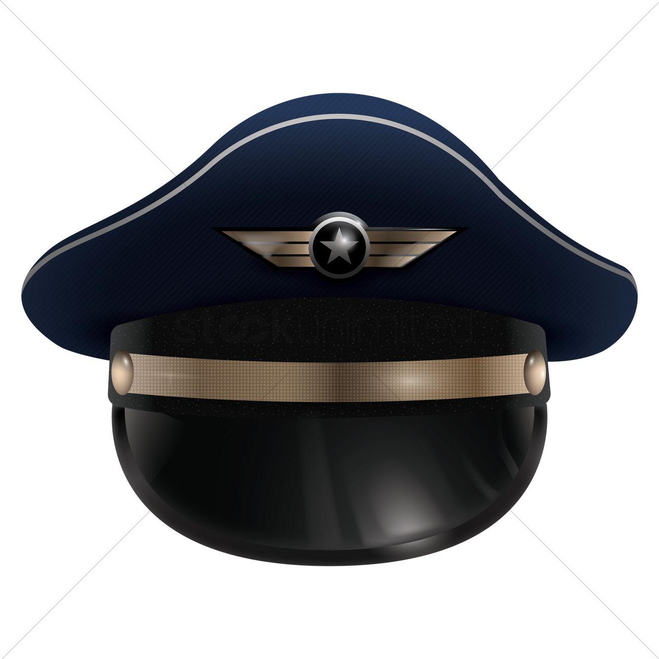 Pilot Cap Vector Graphic