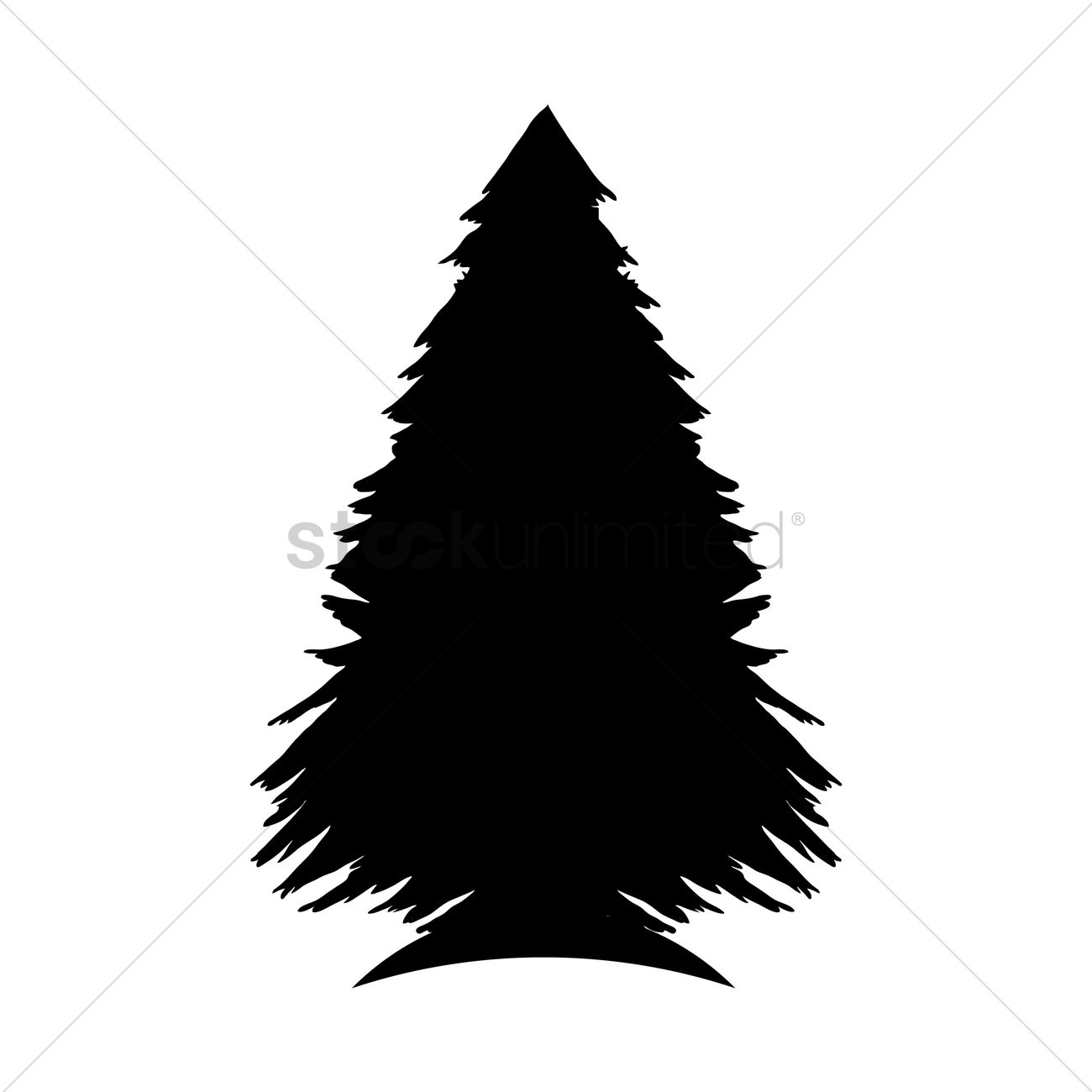 pine tree silhouette vector image 1903000 stockunlimited rh stockunlimited com pine tree graphic images pine tree graphics free
