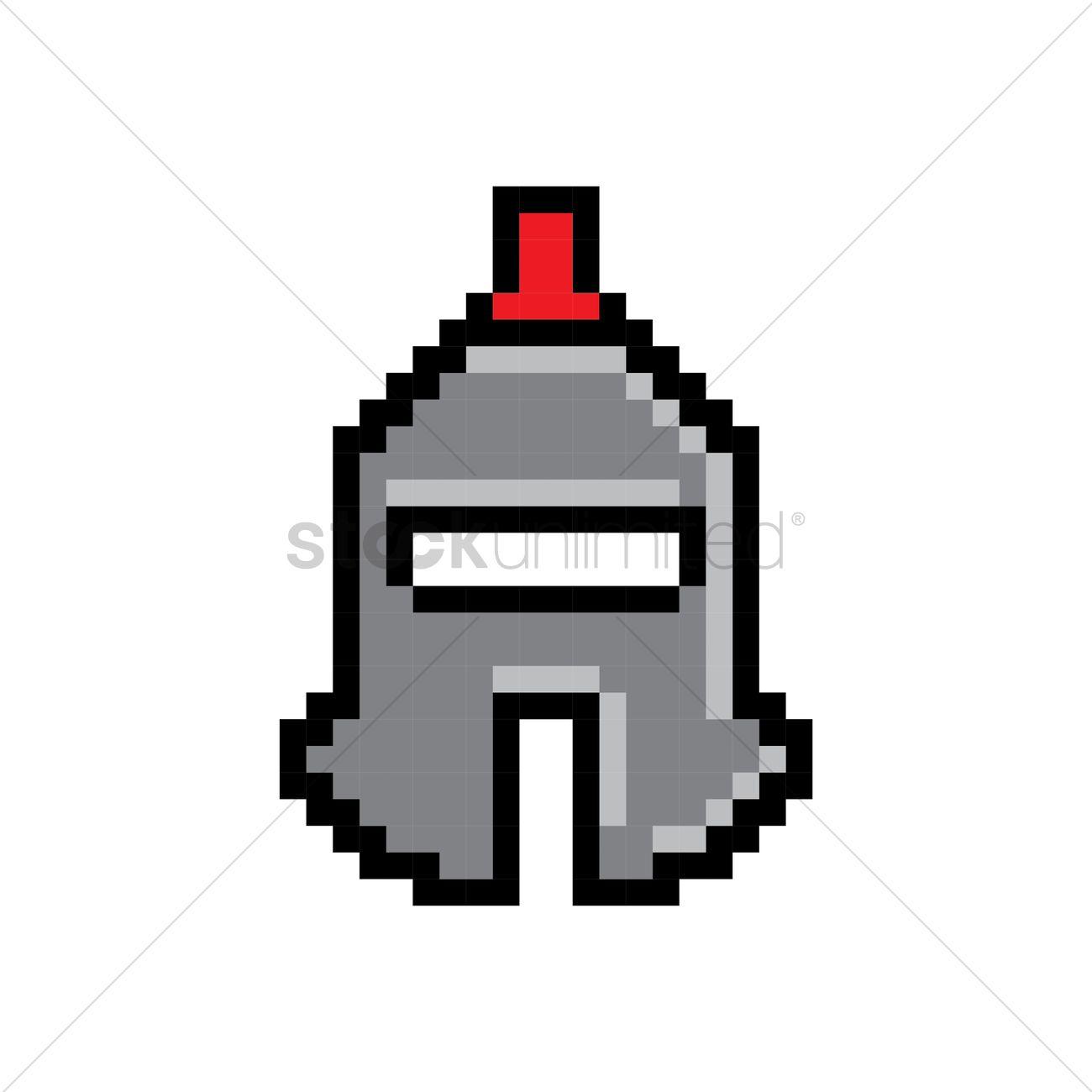Pixel art barbute helmet Vector Image - 1959060   StockUnlimited