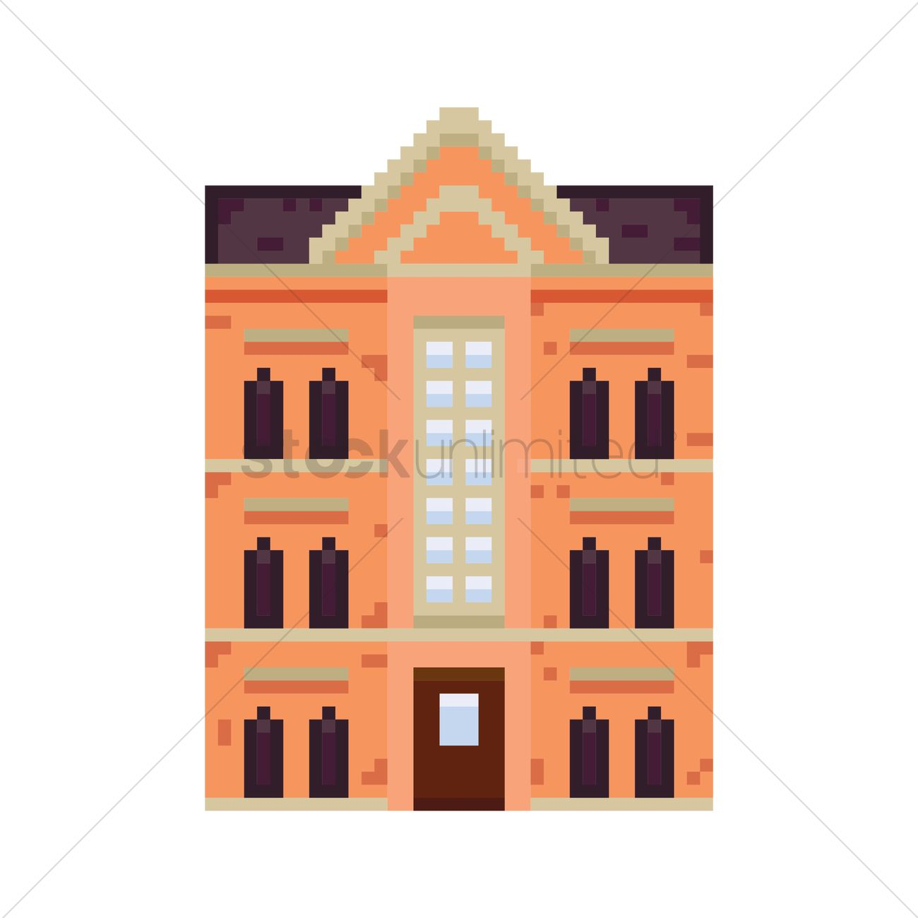 pixel art building vector image 1957772 stockunlimited rh stockunlimited com