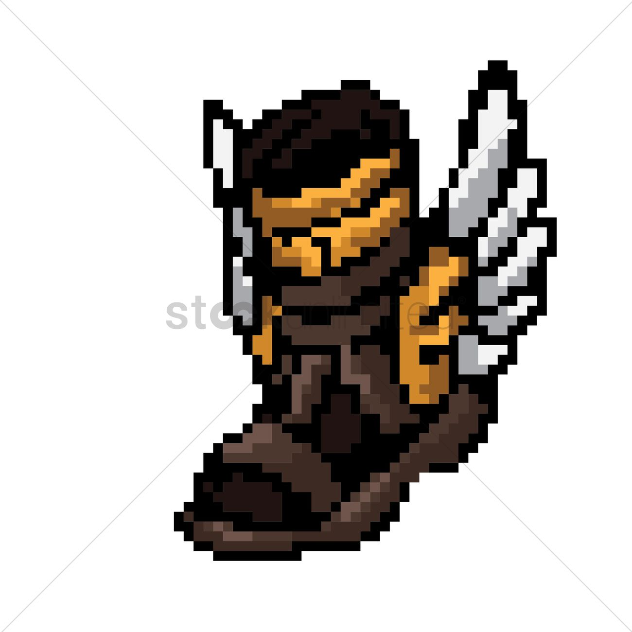 Pixel art magic boots Vector Image , 1959552