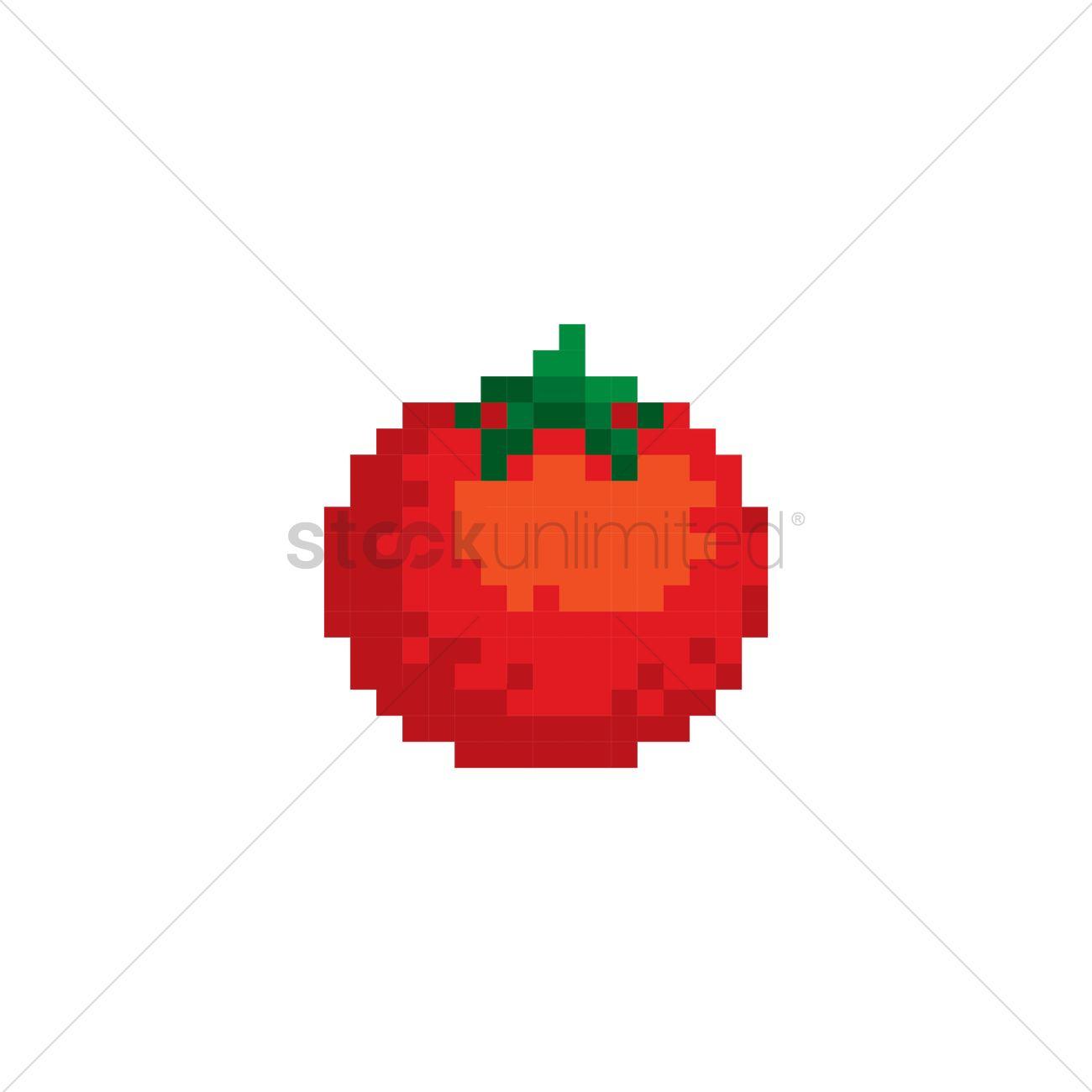 Pixel Art Tomato Vector Image 1987412 Stockunlimited