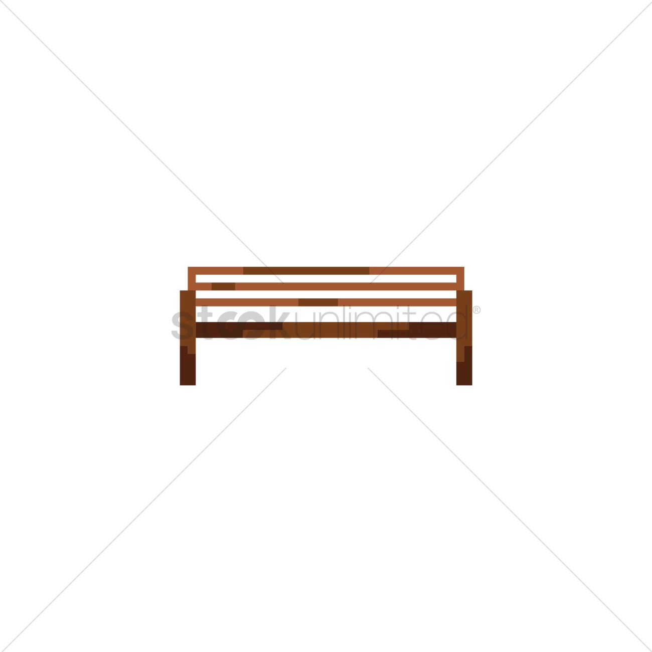 Stupendous Pixel Art Wooden Bench Vector Image 1958368 Stockunlimited Pabps2019 Chair Design Images Pabps2019Com