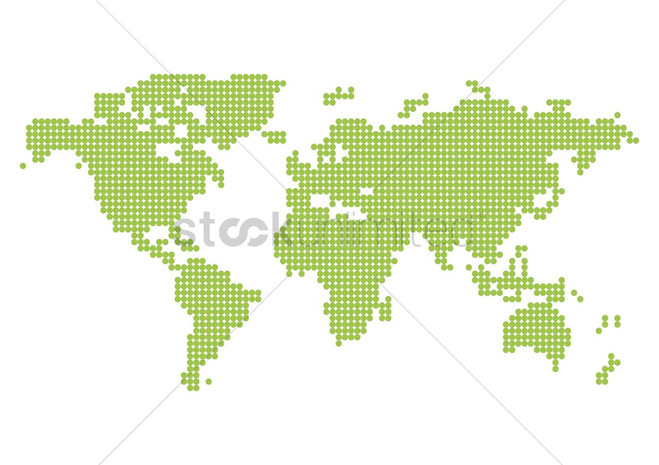 Pixelated world map vector image 2008792 stockunlimited pixelated world map vector graphic gumiabroncs Gallery