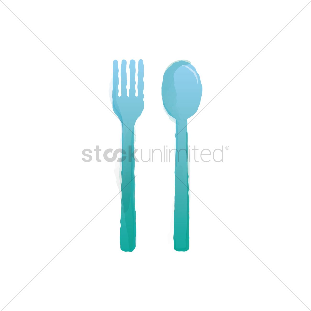 Plastic cutlery Vector Image - 1895512 | StockUnlimited
