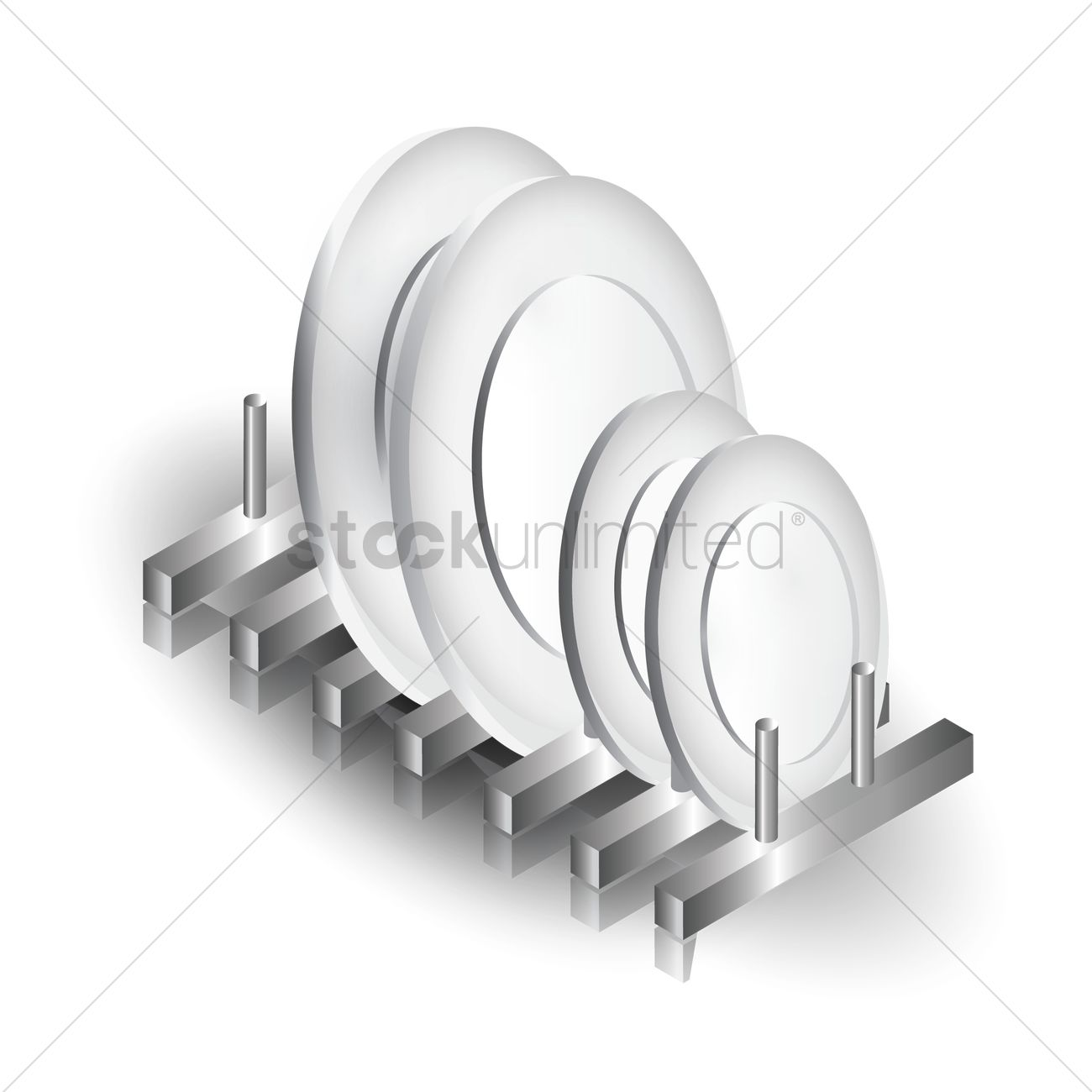 plates stand vector graphic  sc 1 st  StockUnlimited & Plates stand Vector Image - 1573112 | StockUnlimited