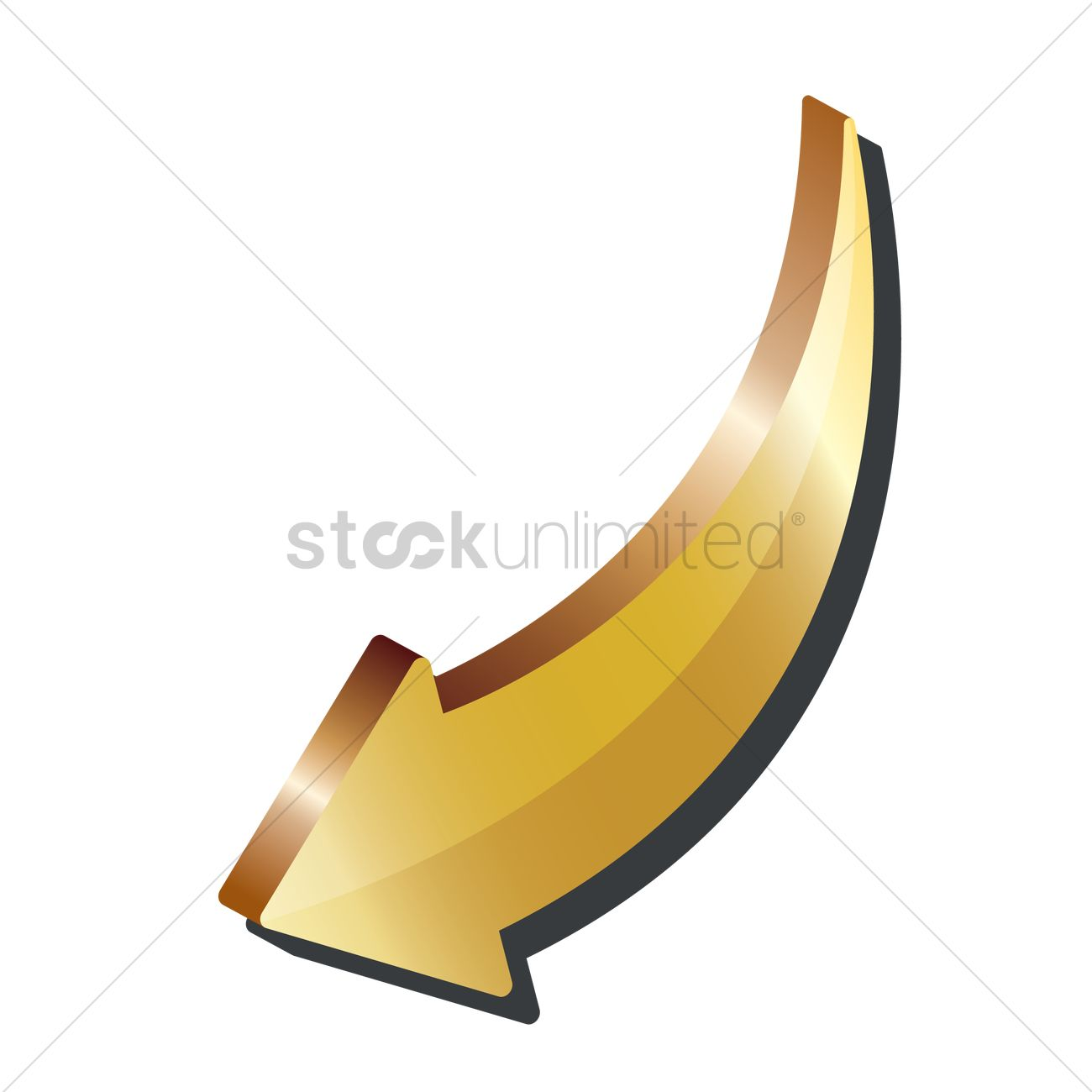 pointing arrow 3d icon vector image 1866848 stockunlimited