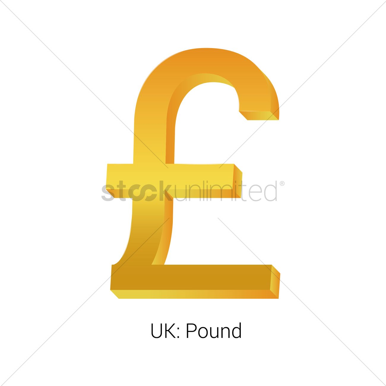 Pound Currency Symbol Vector Image 1821540 Stockunlimited