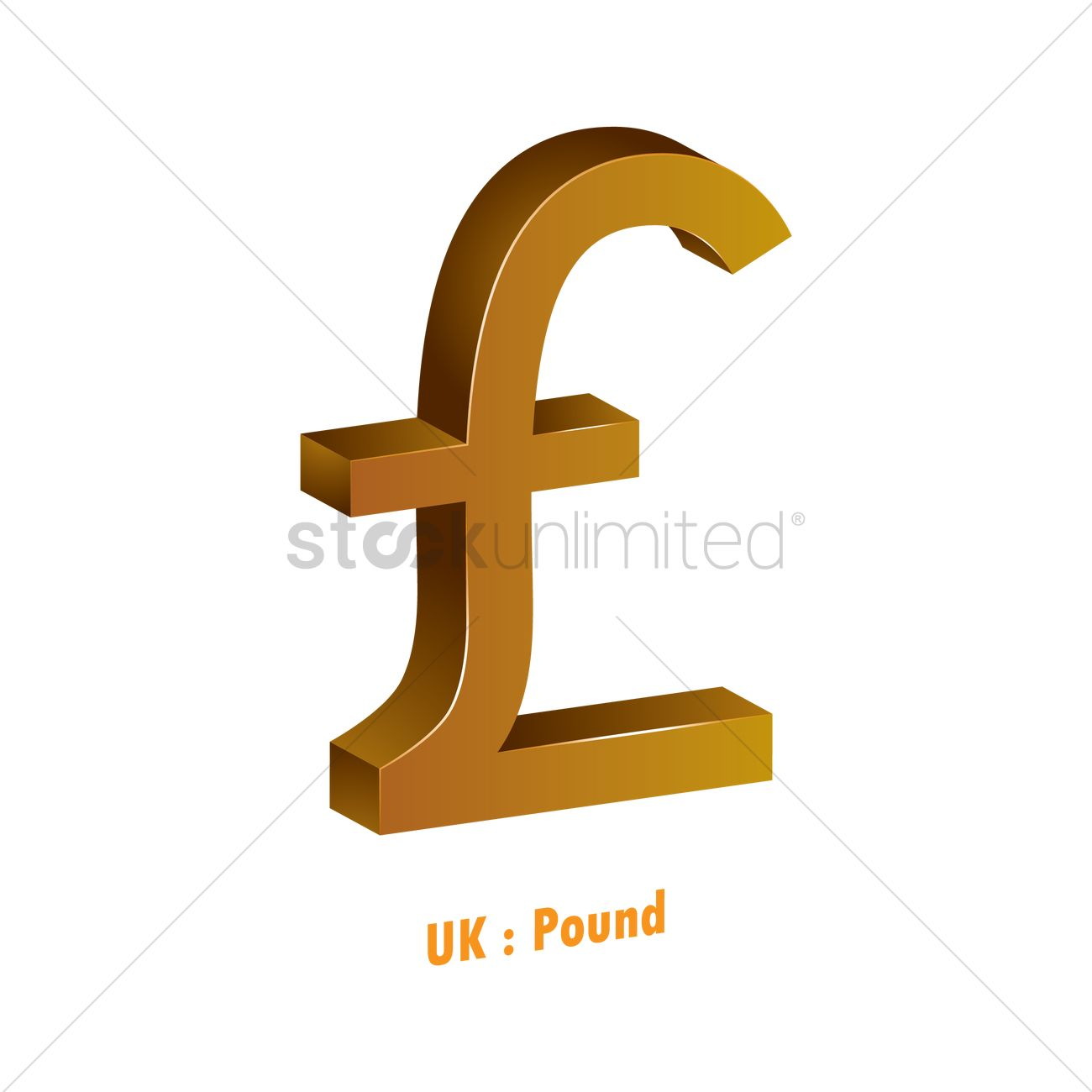Pound Currency Symbol Vector Image