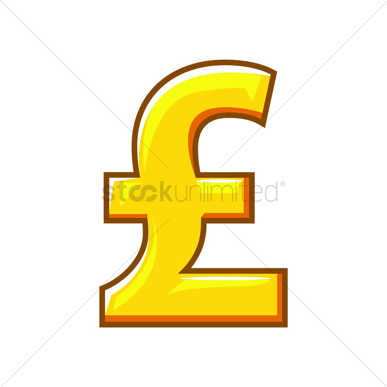 Pound Sterling Currency Symbol Vector Image 1296364 Stockunlimited