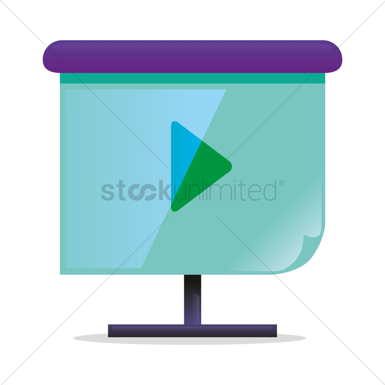 Projector screen Vector Image - 1282308 | StockUnlimited