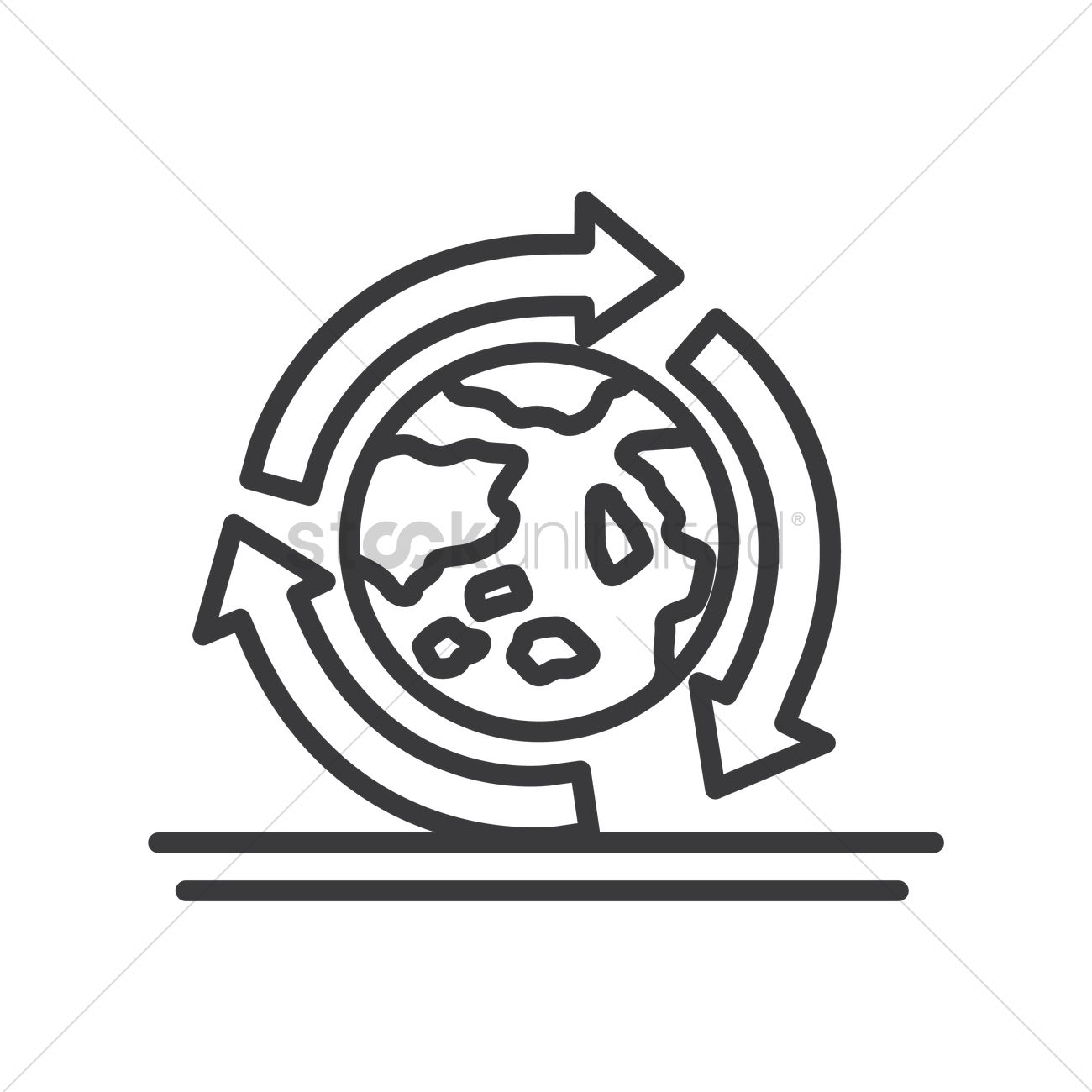 Recycle Earth Symbol Vector Image 1975684 Stockunlimited