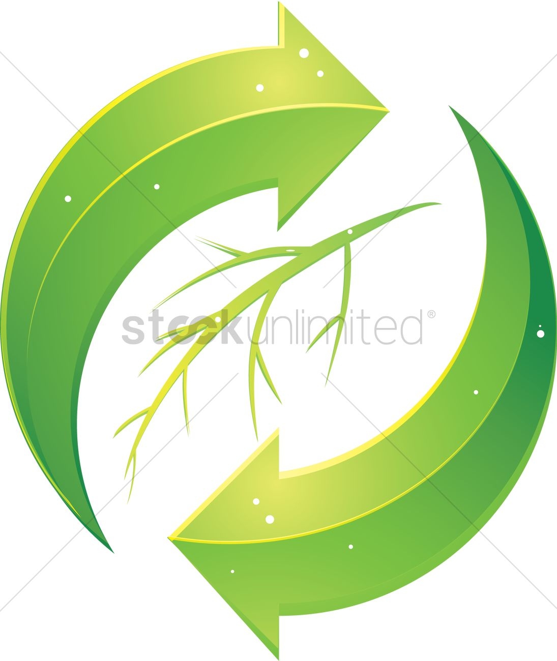 Recycling Symbol With A Branch In The Middle Vector Image 1238976