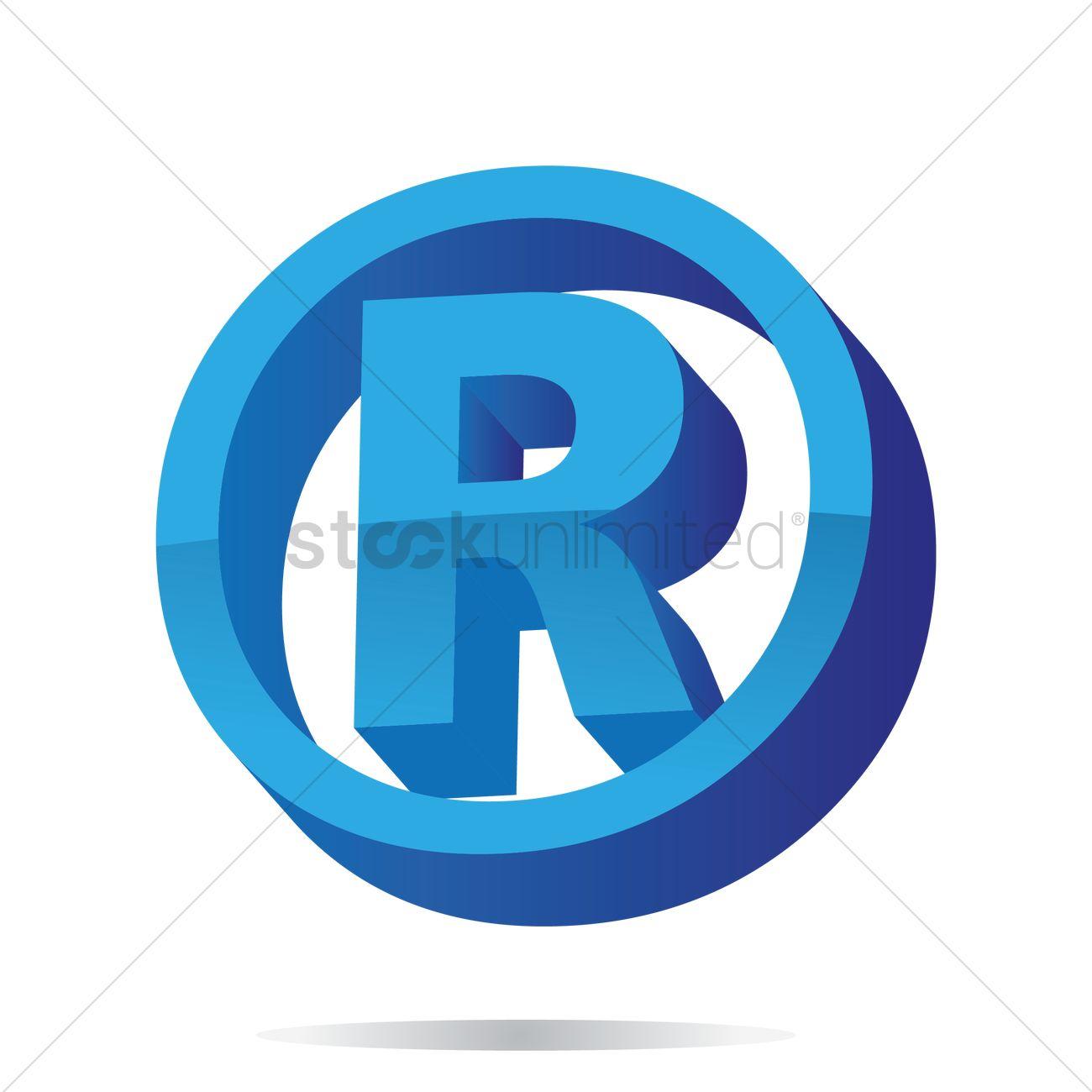Registered Trademark Symbol Vector Image 1632168 Stockunlimited