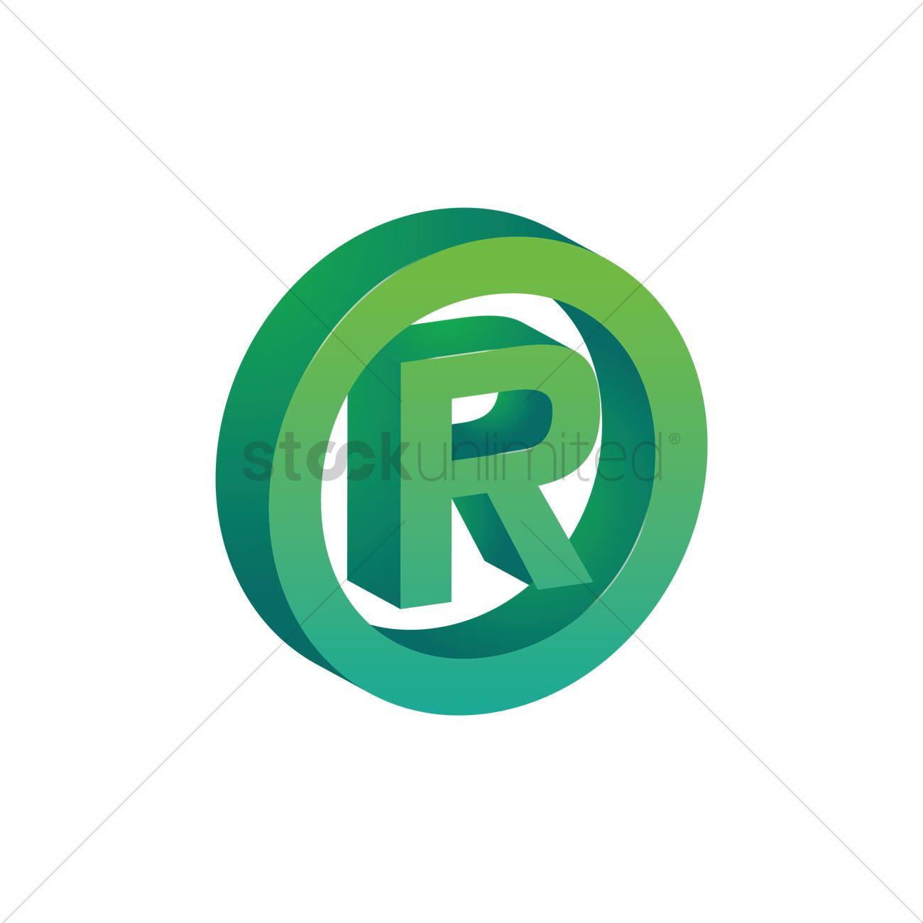 registered trademark symbol vector graphic