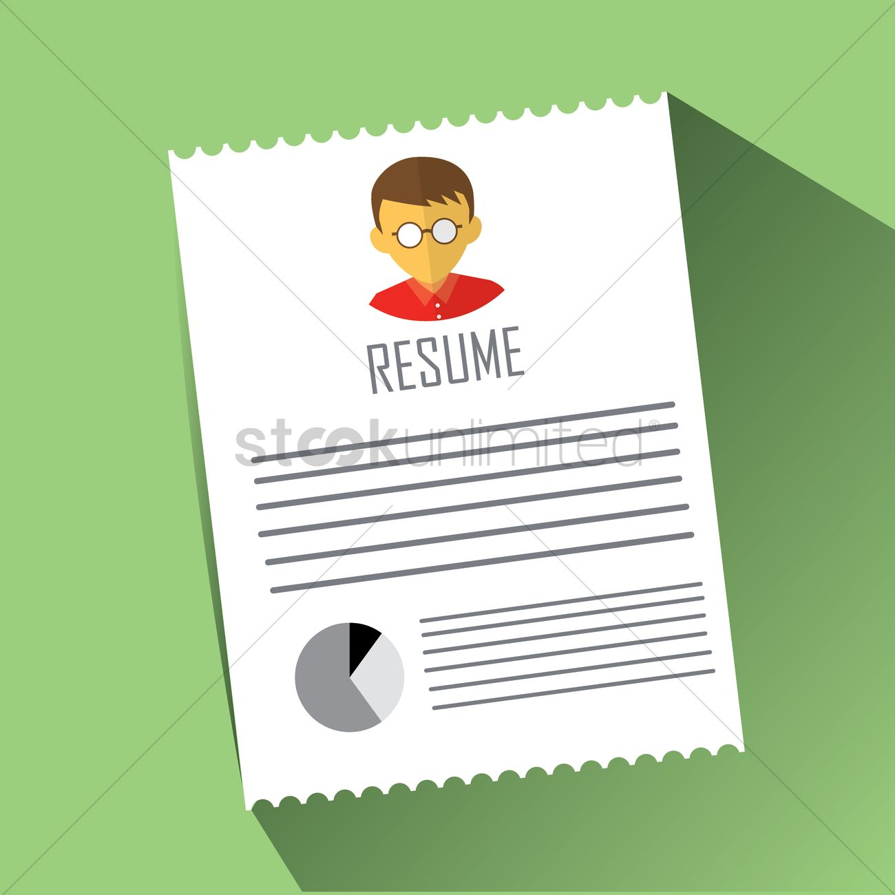 Resume Vector Image 1409160 Stockunlimited