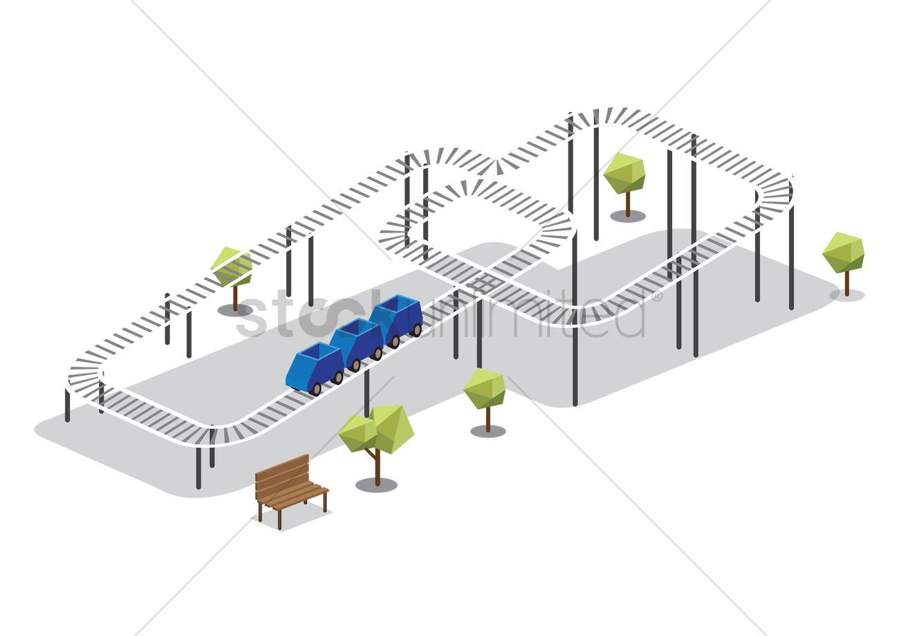 Roller Coaster Ride Vector Image 1601568 Stockunlimited Diagram Graphic