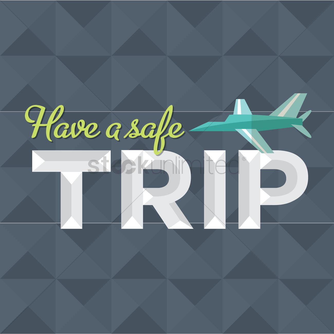 safe travel message design vector graphic