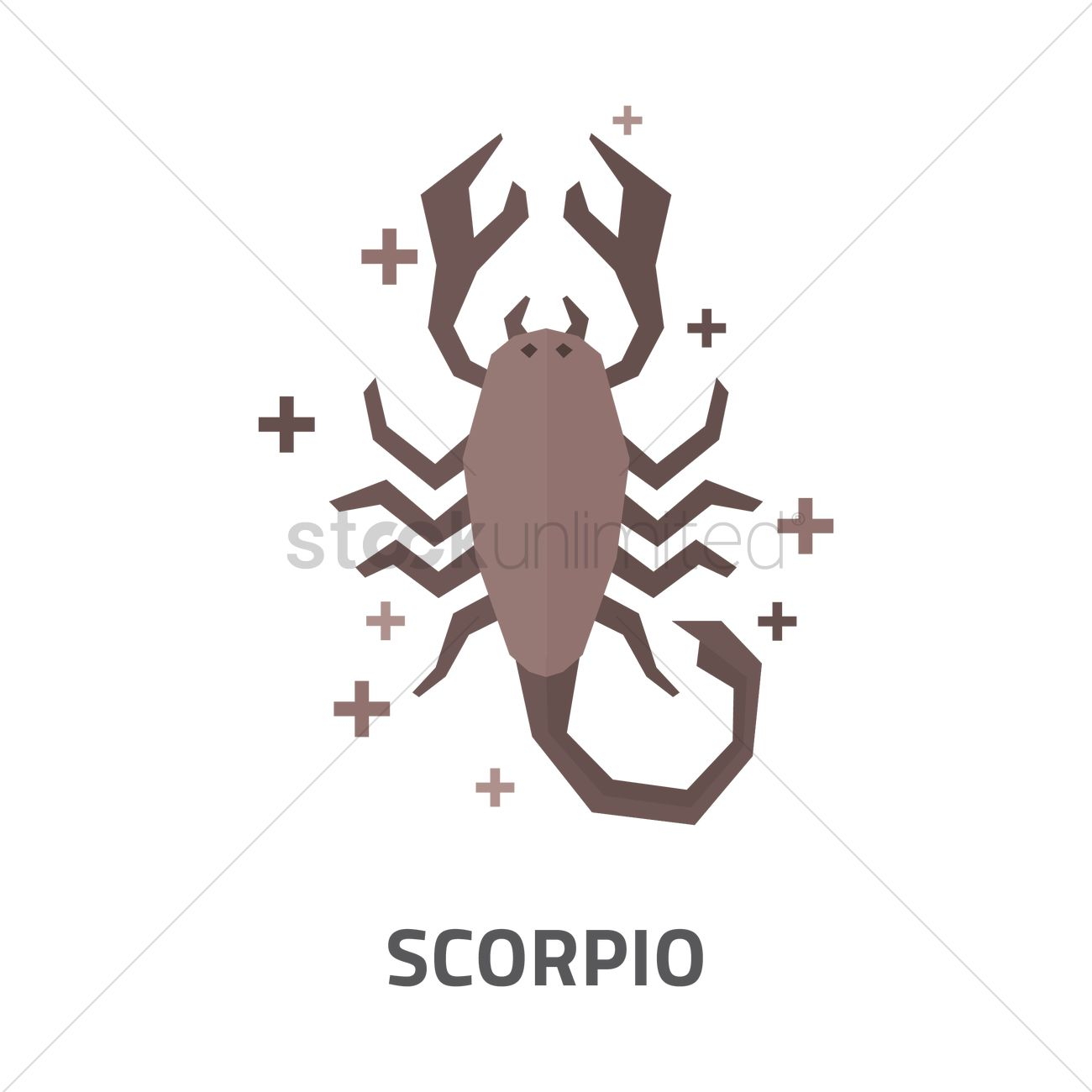 Scorpio horoscope design Vector Image - 1969144 | StockUnlimited