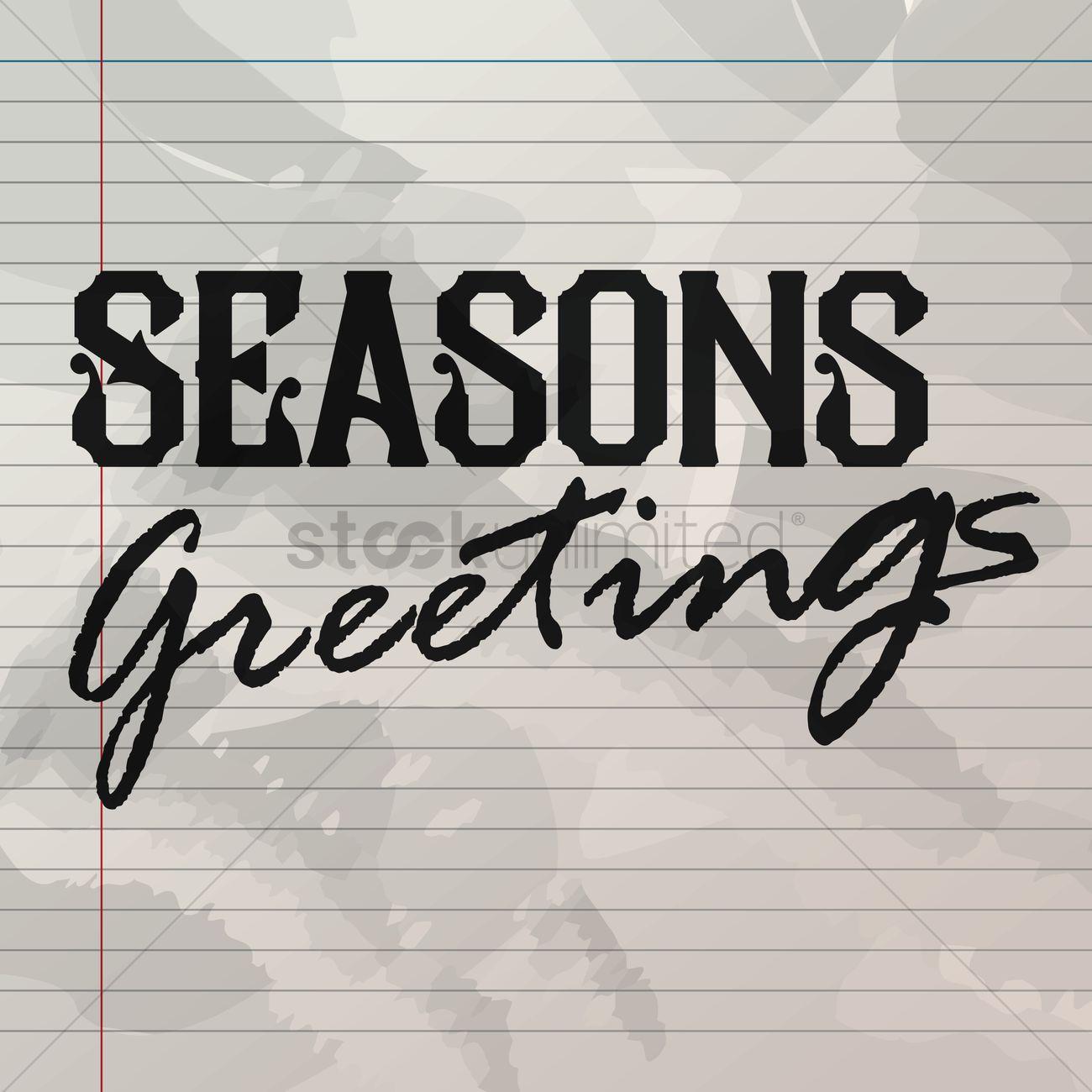 Seasons Greetings On Line Paper Vector Image 1827412 Stockunlimited