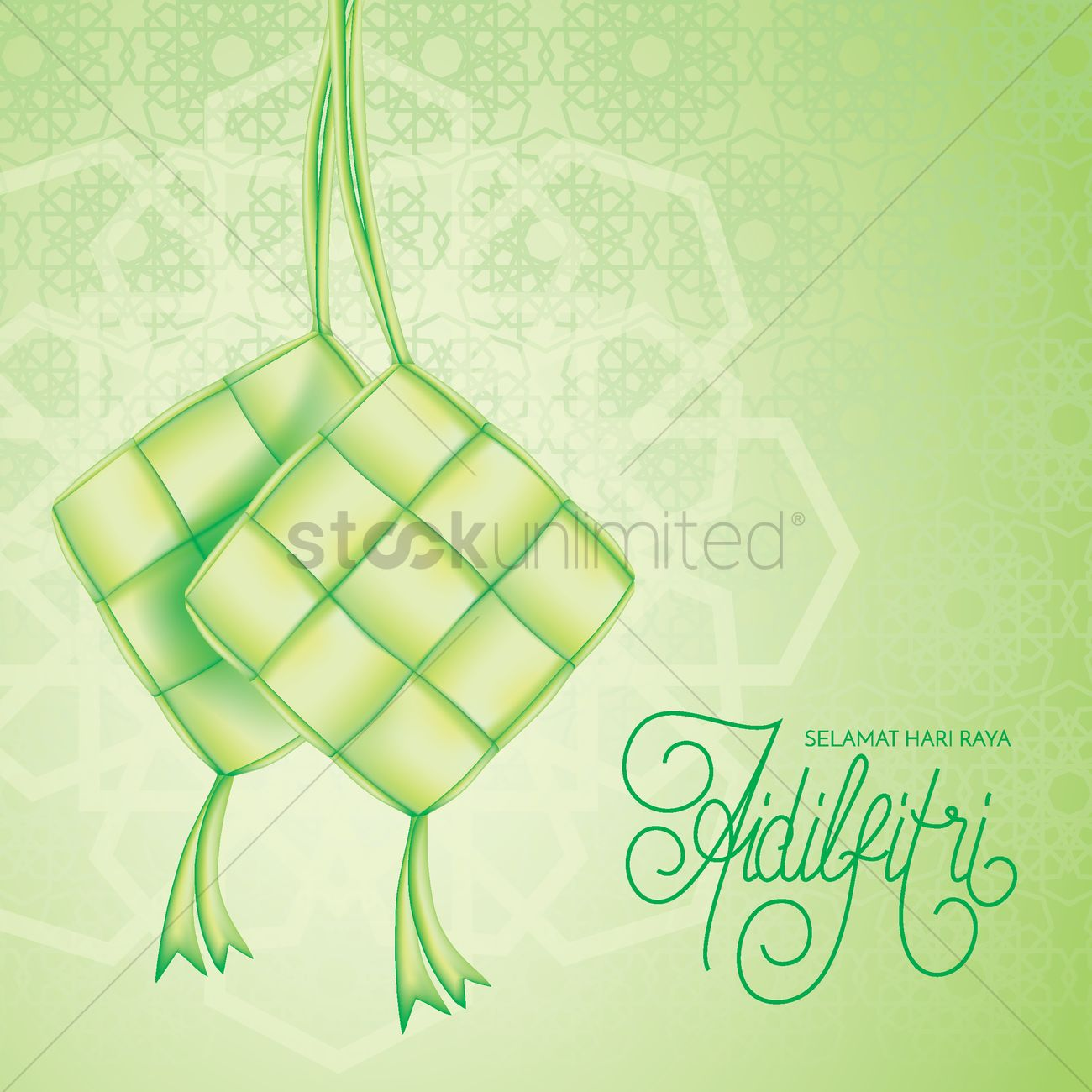 Selamat Hari Raya Greeting Vector Image 1828196 Stockunlimited