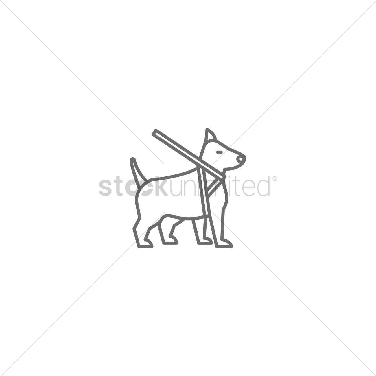 Service Dog Icon Vector Graphic