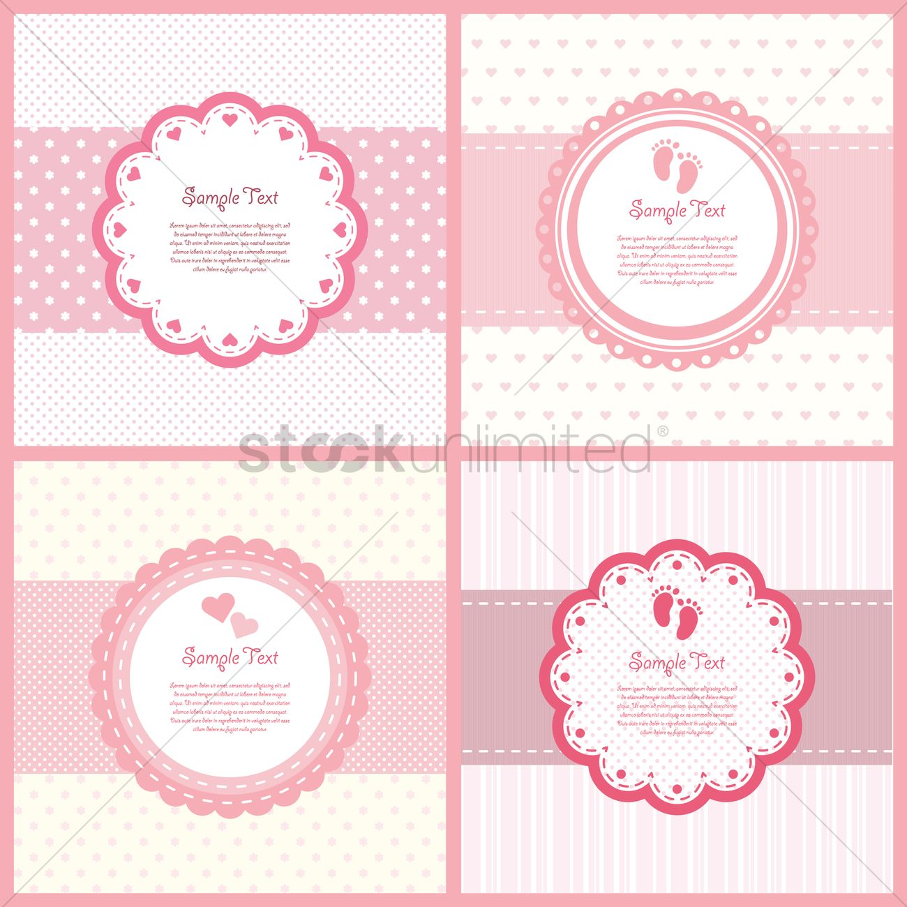 Set of baby shower labels vector image 1795944 stockunlimited set of baby shower labels vector graphic buycottarizona Gallery
