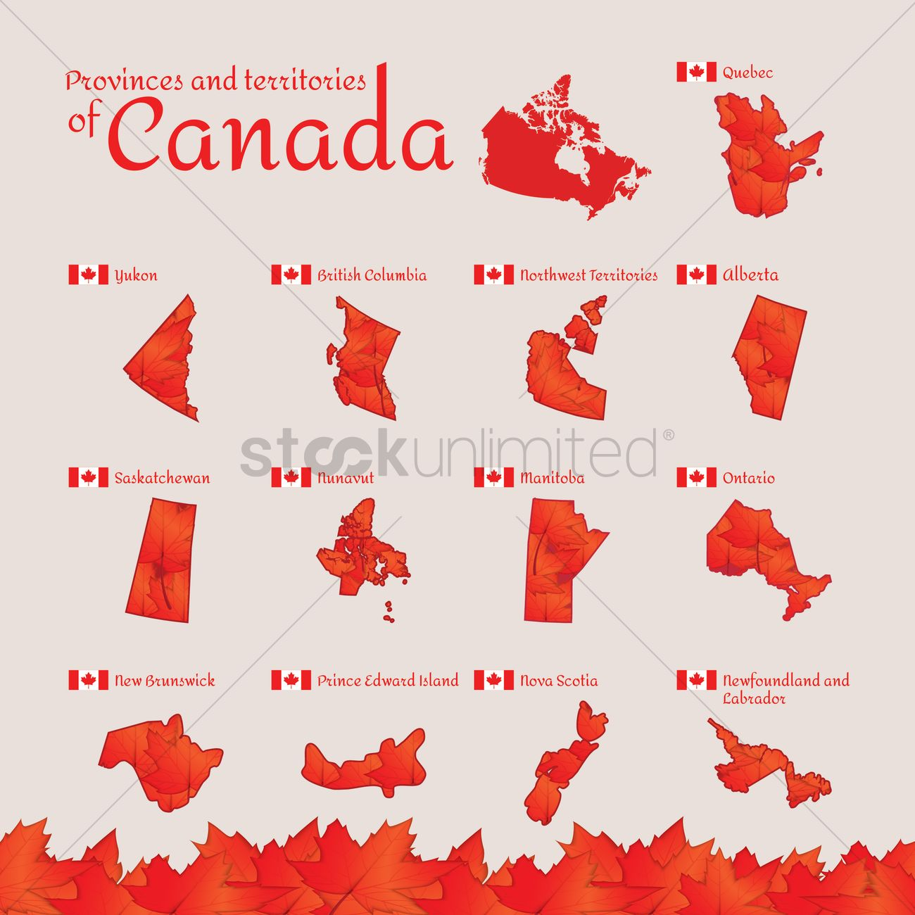 Set of canada provinces and territories icons vector image set of canada provinces and territories icons vector graphic biocorpaavc Choice Image