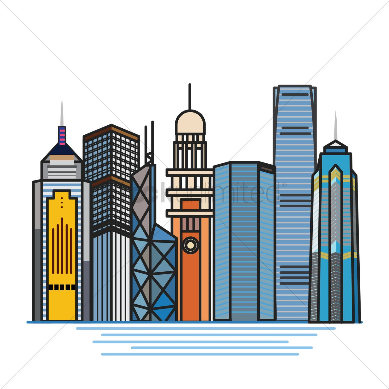 set of hong kong buildings vector image 1597752 stockunlimited rh stockunlimited com vector building arma 3 vector builders international