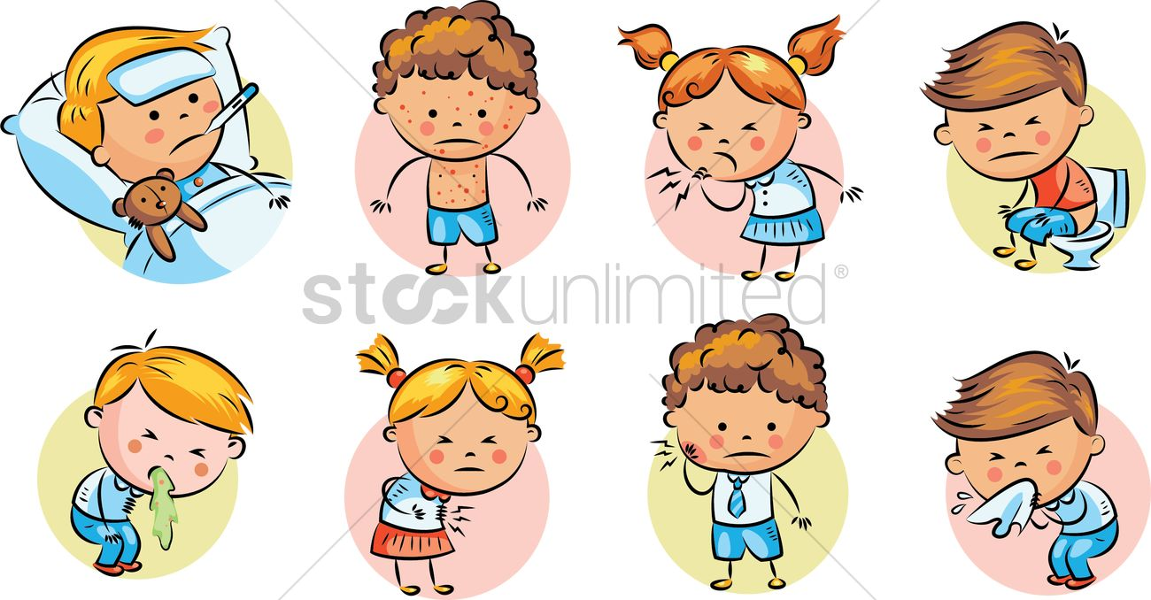 Set of illness icons Vector Image - 2022328 | StockUnlimited