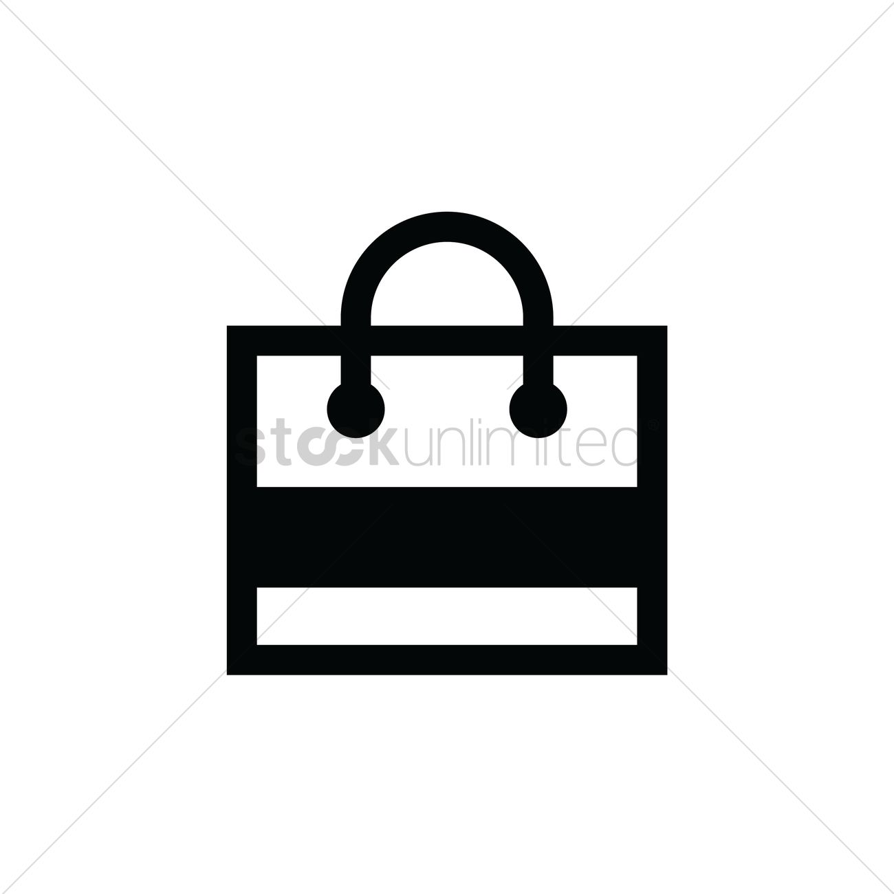 Shopping Bag Icon Vector Image 2026368 Stockunlimited