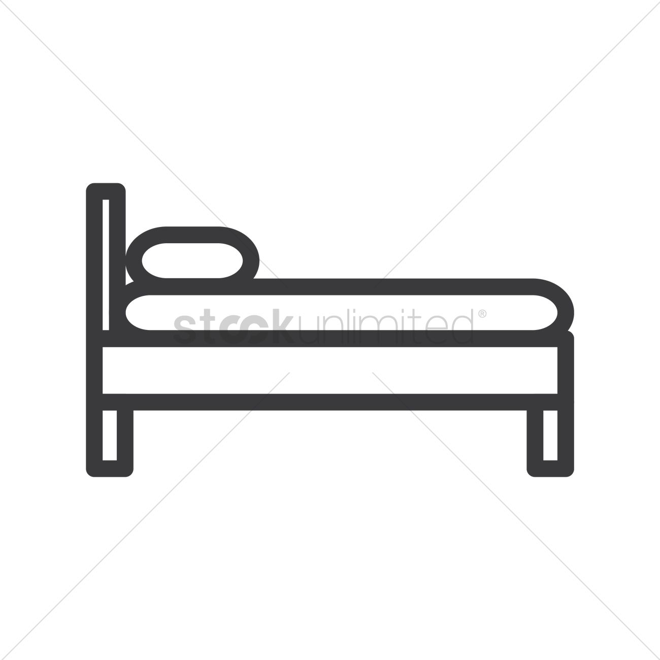 Side view of bed Vector Image 1349828 StockUnlimited