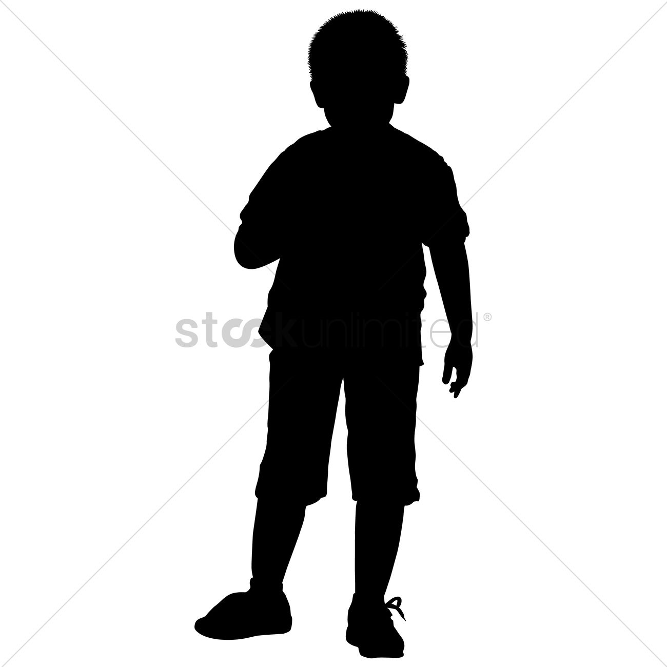 silhouette of a boy standing vector image 1463448