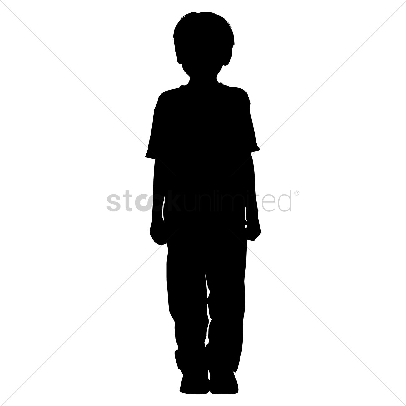 silhouette of a boy standing vector image 1463452