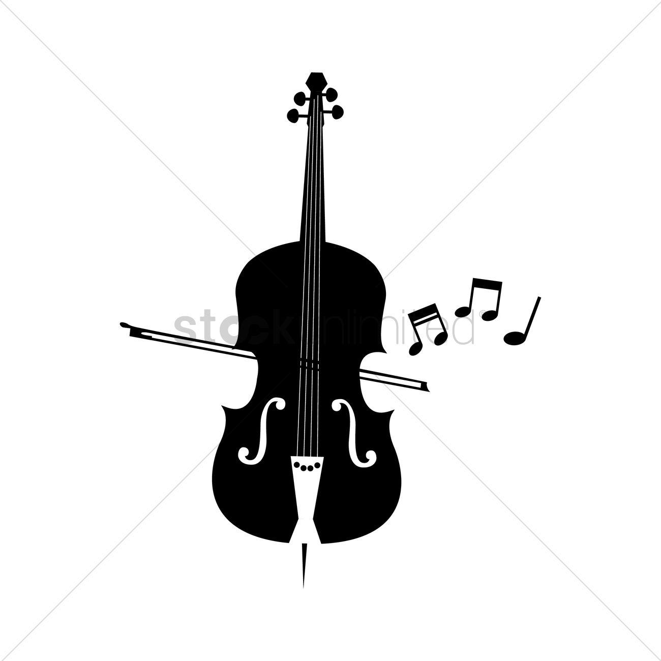 Free Silhouette Of Cello Vector Graphic