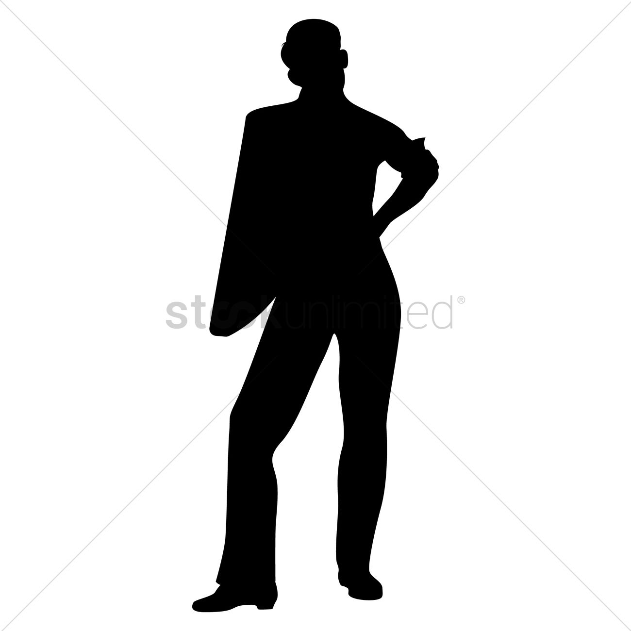 mypuzzledesign business man standing silhouette in - HD 1300×1300