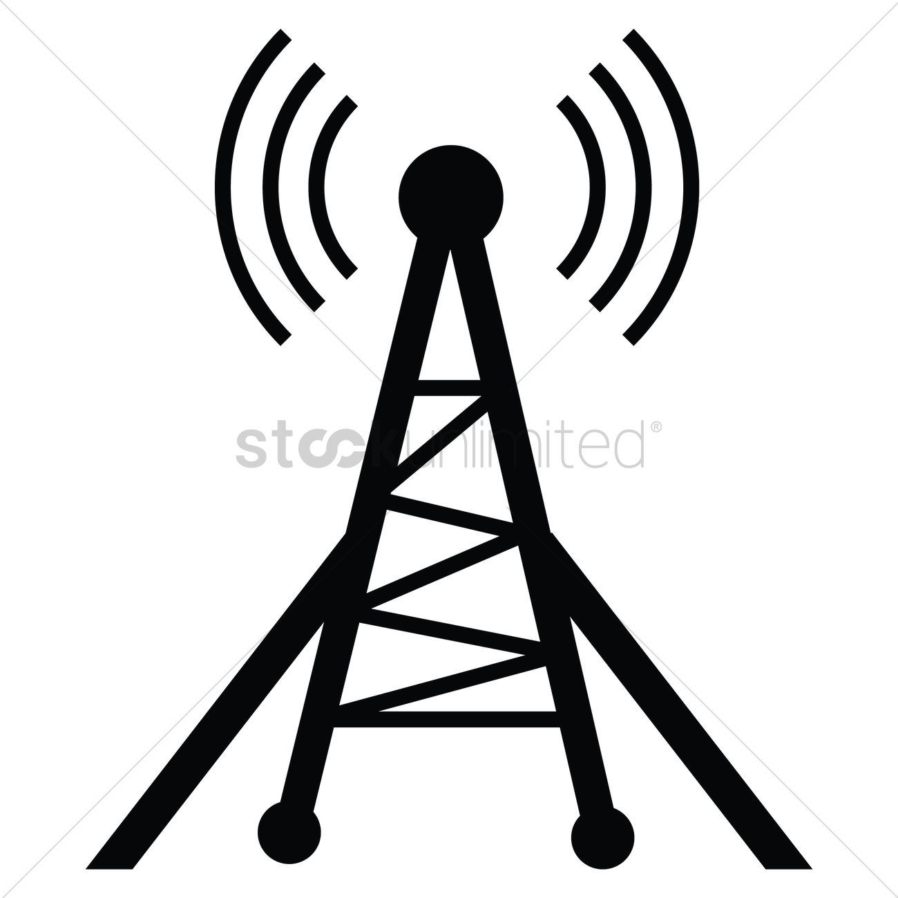 silhouette of radio tower vector image 1936556 stockunlimited rh stockunlimited com  radio tower clip art free