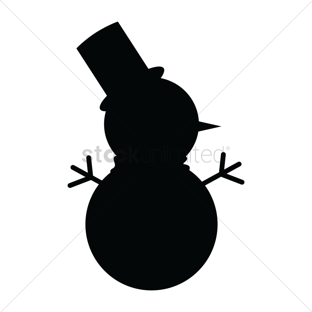 silhouette of snowman vector image 1501428 stockunlimited rh stockunlimited com